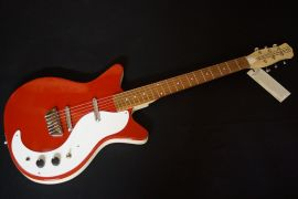 Danelectro 59 DC (Double Cut) -old style - wooden bridge - Red